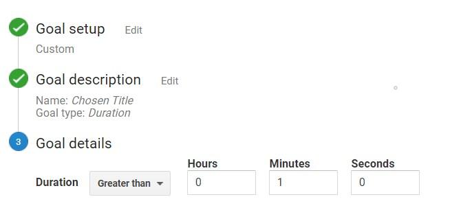 duration goal google analytics